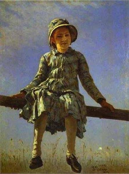 dragon fly portrait of vera repina the artists daughter 1884 XX moscow russia